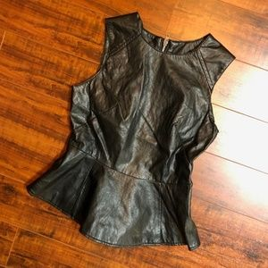 Vintage Steampunk Runway Couture Black Peplum Top